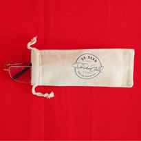 Natural cotton reading glass bag