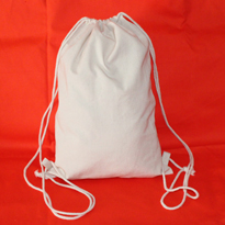 Natural cotton canvas drawstring backpack