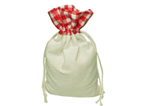 Gingham top cotton bag