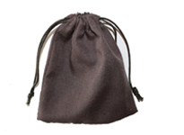 Brown polycotton drawstring bag