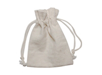 100% Cotton bag with doubel drawcord closure on Top