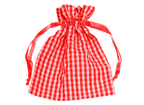 Cotton plaid fabric bag