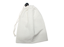 Cotton dust bag with plastic adjust