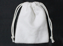 White brushed cotton promotion bag