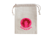 Double drawstring cotton bag