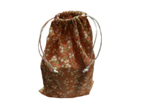 Calico drawstring bag