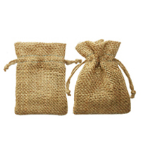 Small jute drawstring bag