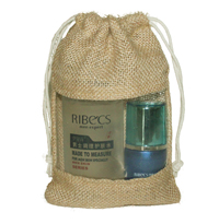 Jute burlap bag with PVC window