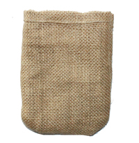 Burlap bag without drawstring