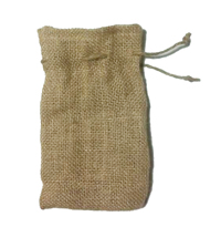 Burlap single drawstring bag