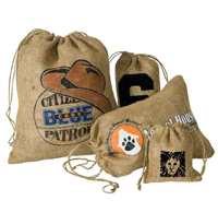 Custon print burlap bag