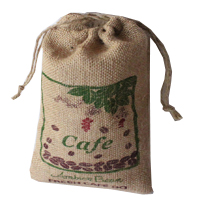 Jute burlap cafe beans bag