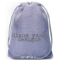 Purple hessian bags