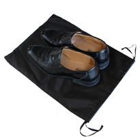 Black satin bag for shoe