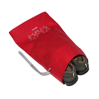 Non-woven shoe bag with ribbon drawstring