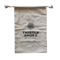 Cotton dance shoe bag